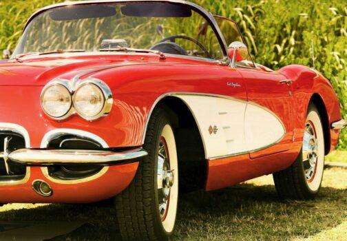 Chevrolet Corvette C1 czerwono-biały