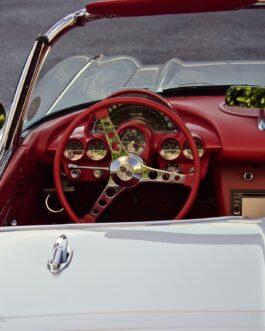 Plakat Chevrolet Corvette C1 wnętrze