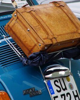 Plakat Fiat 500L walizka