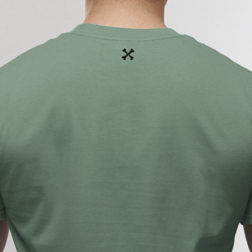 T-shirt Outlaw to the bone pale green 2