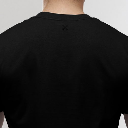 T-shirt Outlaw to the bone black 2