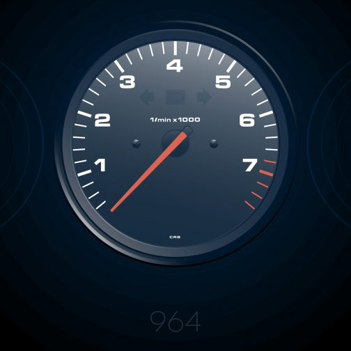 plakat wskaźniki Porsche 911 964 2