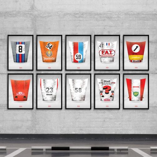 Plakat seria maski 911 w słynnych malowaniach
