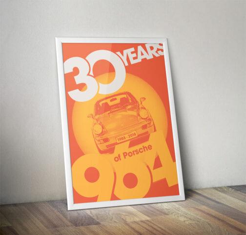 plakat 30 rocznica powstania Porsche 911 964