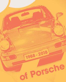Plakat 30 lat Porsche 911 964
