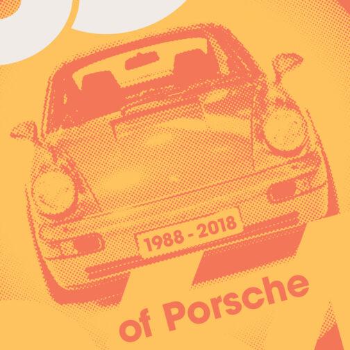 plakat 30 rocznica powstania Porsche 911 964 2