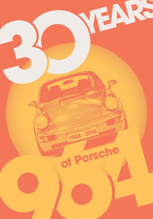 plakat 30 rocznica powstania Porsche 911 964 4