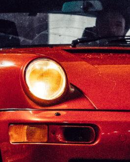 Plakat Porsche 911 964 Coral Red