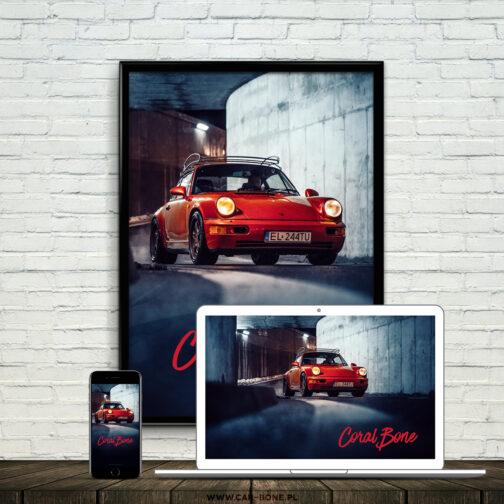 Porsche 911 (964) Coral Red 3
