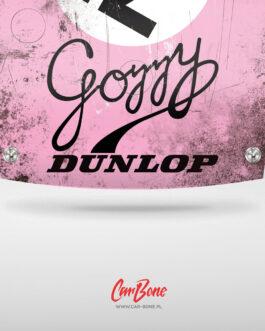Plakat maski Porsche w słynnych malowaniach Gozzy Kremer