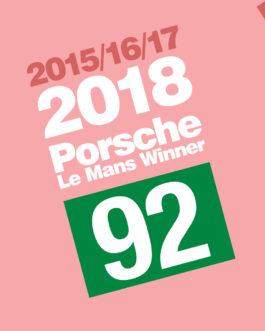 Plakat upamiętniający zwycięstwo Porsche w Le Mans w 2018 roku