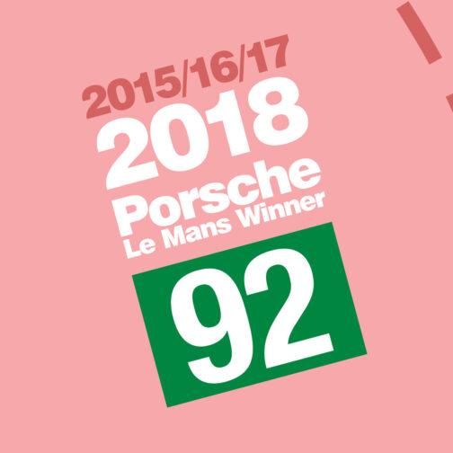 plakat Porsche Le Mans 2018 2