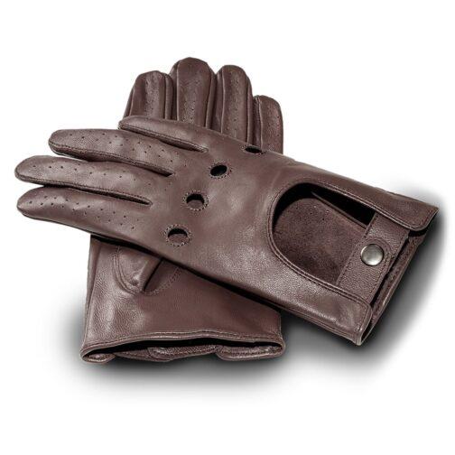 Rękawiczki samochodowe James Hawk brązowe
