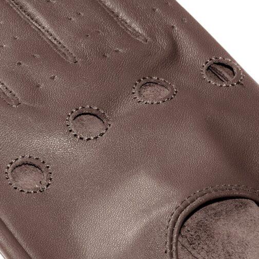 Rękawiczki samochodowe James Hawk brązowe 2