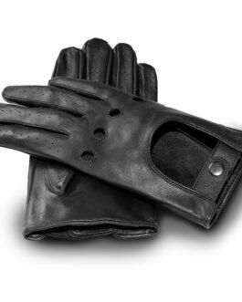 Rękawiczki samochodowe James Hawk czarne
