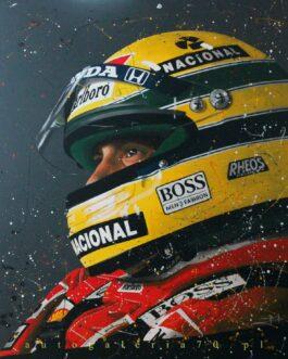 Obraz Ayrton Senna w kasku