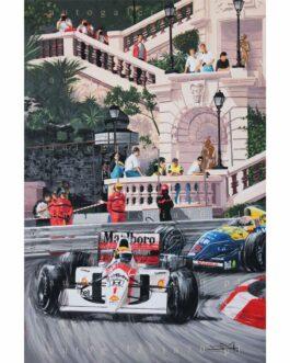 Obraz Ayrton Senna podczas Grand Prix Monaco